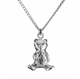 Teddy Bear Sterling Silver Cremation Jewelry Necklace