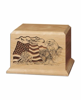 The American Military Cherry Wood Cremation Urn