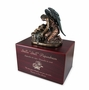 The Angel's Whisper Cherry Finish MDF Wood Cremation Urn