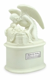 The Angel's Whisper Cold Cast White Alabaster Cremation Urn