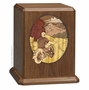 The Last Ride Dimensional Walnut Wood Cremation Urn
