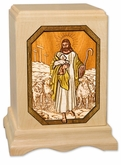 The Lord is My Shepherd Inlayed Maple Wood Cremation Urn