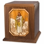 The Lord is My Shepherd Inlayed Walnut Wood Companion Cremation Urn