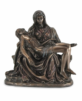 The Pieta Cold Cast Bronze Finish keepsake Cremation Urn
