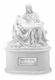 The Pieta Cold Cast White Alabaster Cremation Urn
