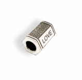 Thumbead Hex Bead/Charm 3D Fingerprint Sterling Silver Keepsake Memorial Jewelry