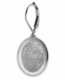 Thumbies 3D Fingerprint Sterling Silver Keepsake Memorial Standard Earrings