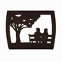 Together in the Park Modern Companion Wood Cremation Urn