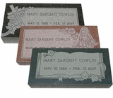 Traditional Granite Cemetery Grave Markers