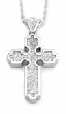 Traditional Roman Cross Sterling Silver Cremation Jewelry Pendant Necklace