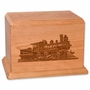 Train Cherry Wood Newport Laser Carved Cremation Urn