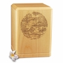 Tranquil Pond Classic Maple Wood Cremation Urn