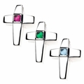 Treasured Memories® Cross Birthstone Cremation Pendants