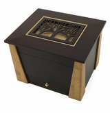Tree Cut Panel Craftsman MDF Wood Memory Chest Cremation Urn
