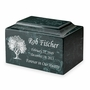 Tree of Life Classic Cultured Marble Cremation Urn Vault - Engravable - 34 Color Choices