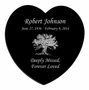 Tree of Life Laser-Engraved Heart Plaque Black Granite Memorial