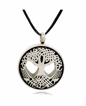 Tree of Life Stainless Steel Cremation Jewelry Pendant Necklace