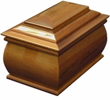 Tribute Cremation Urn in Mahogany or Oak Wood