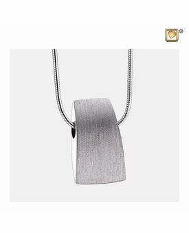 Tribute Two Tone Rhodium Plated Sterling Silver Cremation Jewelry Pendant Necklace