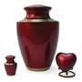 Trinity Crimson Brass Keepsake Cremation Urn