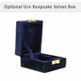 Lineas Starlight Blue Brass Keepsake Cremation Urn - Engravable