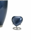 Trinity Moonlight Blue Brass Heart Keepsake Cremation Urn
