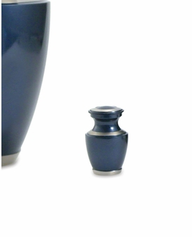 Trinity Moonlight Blue Brass Keepsake Cremation Urn