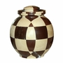 Triumph Cameo Chocolate Marble Mosaic Cremation Urn