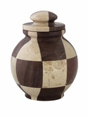 Triumph Cameo Chocolate Marble Mosaic Keepsake Cremation Urn