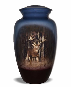 Trophy Buck Picture Cremation Urn