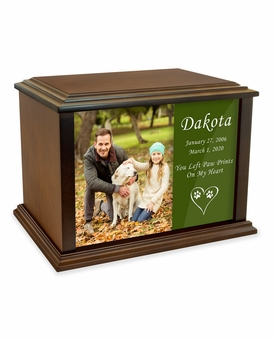 True Companion Dog Photo Wood Pet Cremation Urn - 3 Sizes