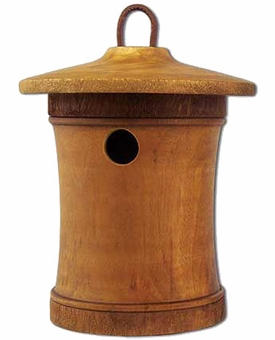 Turned Birdsong Small Scattering Mangowood Birdhouse Cremation Urn