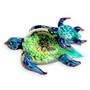 Turtle Swimming Lesson Cremains Encased in Glass Cremation Paperweight