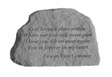 Tuscan Vine Company Memorial - God Keeps A Place - Memorial Garden Stone