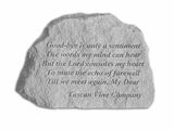 Tuscan Vine Company Memorial - Goodbye Is Only - Memorial Garden Stone