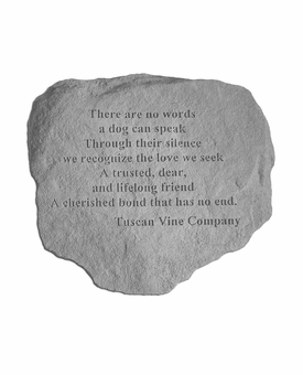 Tuscan Vine Company Memorial - There Are No Words - Memorial Garden Stone