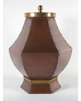 Ursuline Custom Handcrafted Copper Companion Cremation Urn