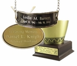 Vase-style Cremation Urn Personalization Options