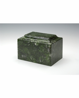 Verde Classic Cultured Marble Cremation Urn Vault - Engravable