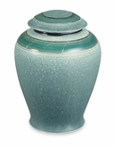 Verde Hand-Thrown Porcelain Vase Cremation Urn