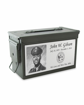 Veteran Photo M2A1 Ammo Can Cremation Urn