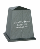 Viewpoint Black Marble Engravable Cremation Urn