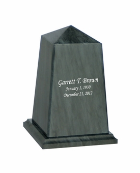 Viewpoint Youth Black Marble Engravable Cremation Urn