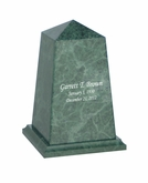 Viewpoint Youth Green Marble Engravable Cremation Urn