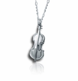 Violin Sterling Silver Cremation Jewelry Pendant Necklace
