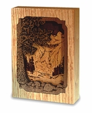 Waterfall Dimensional Wood  Keepsake Cremation Urn - Engravable