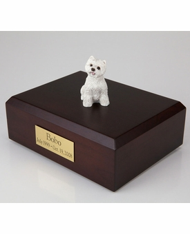 Westie Dog Figurine Pet Cremation Urn - 1928