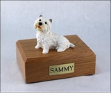Westie Dog Figurine Pet Cremation Urn - 249