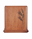 Wheat Mahogany Cremation Urn - Engravable