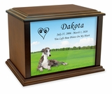 Whippet True Companion Dog Photo Pet Cremation Urn - 3 Sizes